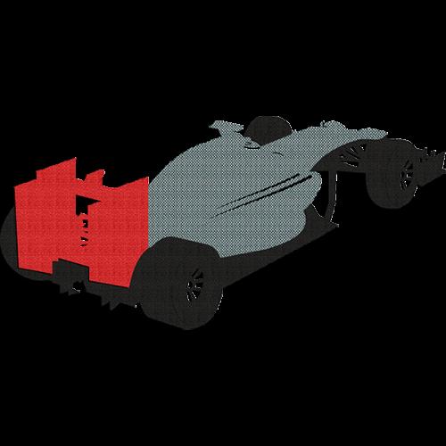 Decoracion de pared con vehiculos de formula uno