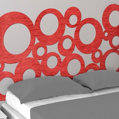 comprar cabezal de cama rojo original para dormitorio