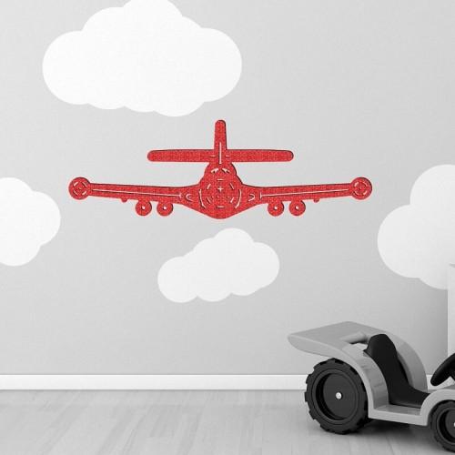 Decoracion de pared con vehiculos de avion