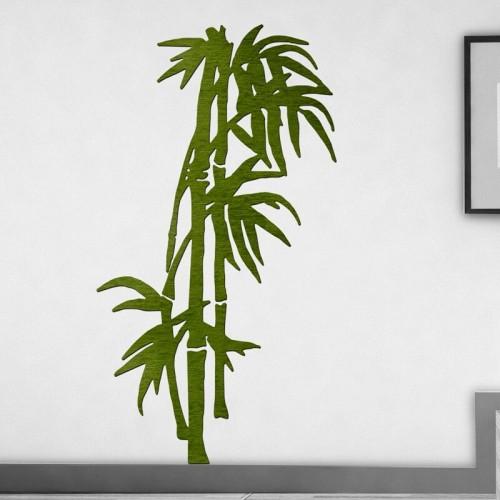 Decoracion con murales de bambu botanicos personalizados 3d para el salon