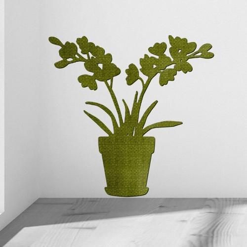 Decoracion de paredes con murales de macetas magnolia botanicas personalizadas