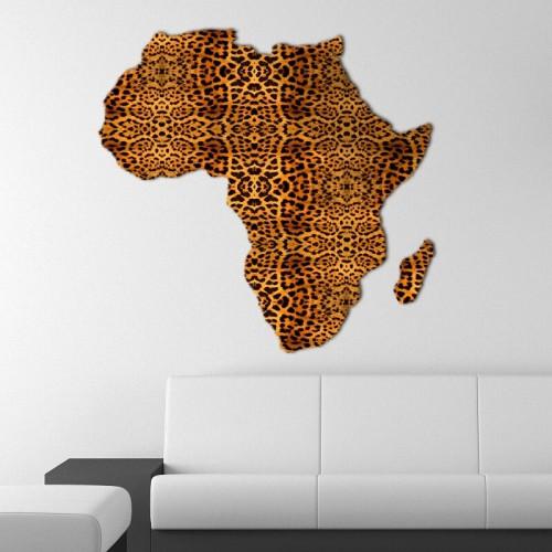 Decoracion de paredes con murales de mapa de africa