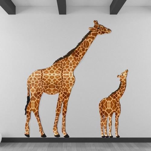 Decoración de paredes con murales de jirafas