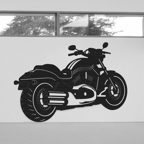 Ideas de decoración de pared con moto Harley Davidson Two Wheels en tejido 3D