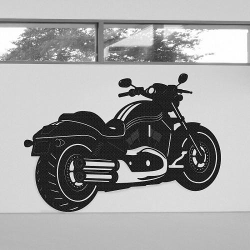 Ideas de decoración de pared con moto Harley Davidson Two Wheels en tejido 3D