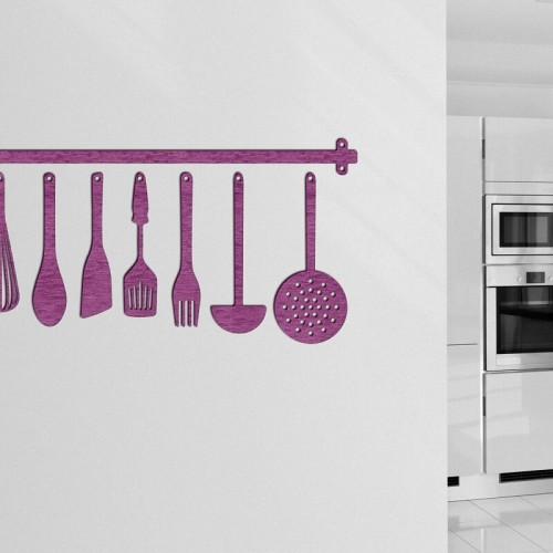 Decoracion con murales de utensilios para la cocina