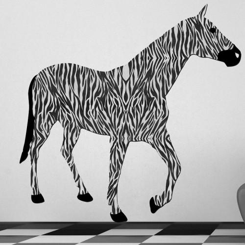 Decoración de paredes temáticas de animales y cebras a rayas
