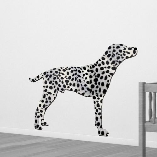 Decoración de paredes con perros dalmatas