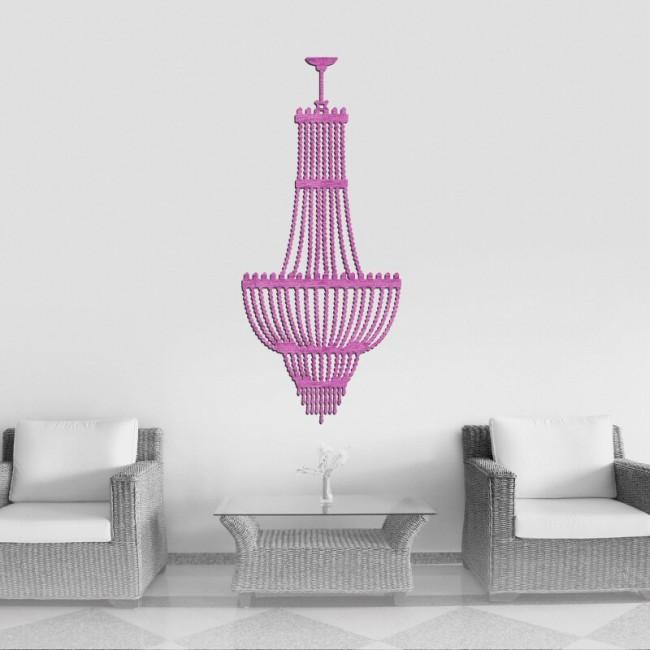 Decoracion con luminaria decorativa elegante para el salon