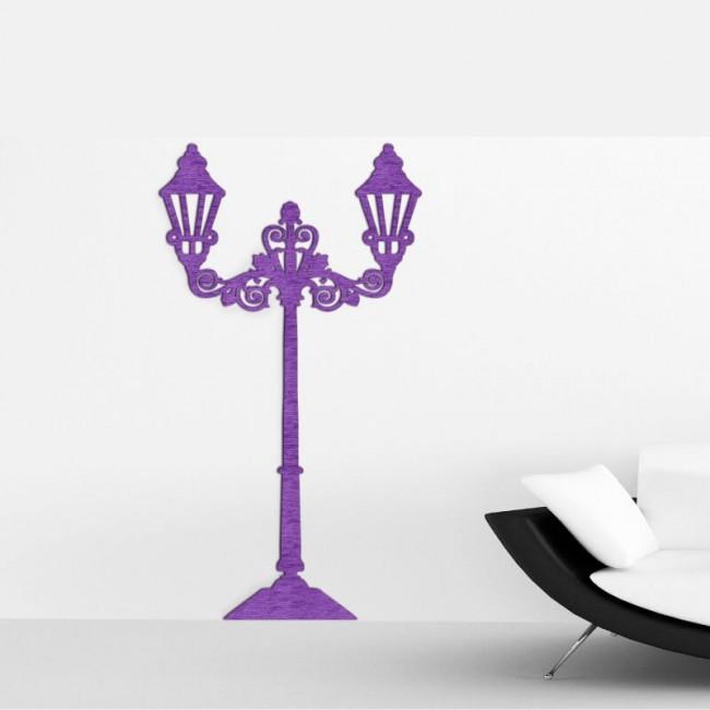 Decoracion con murales de luminaria decorativa para el salon