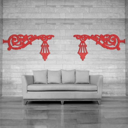 Decoracion con farolas rojas para el salon