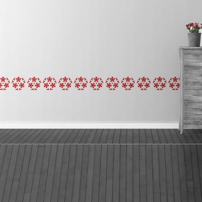 Decoracion de pared con tattoos de flores