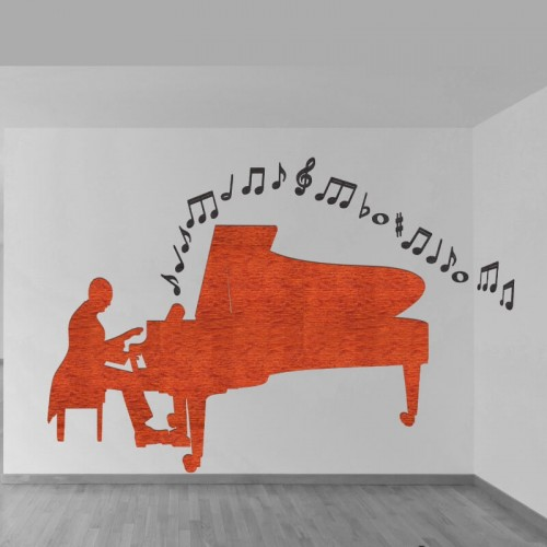 Decoracion de pared con letras musicales