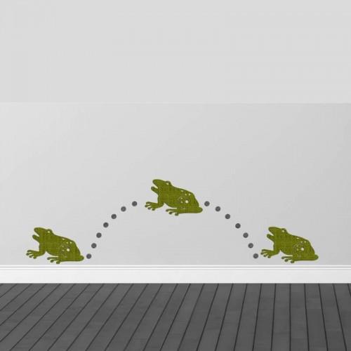 Decoración de paredes con ranas 3D originales