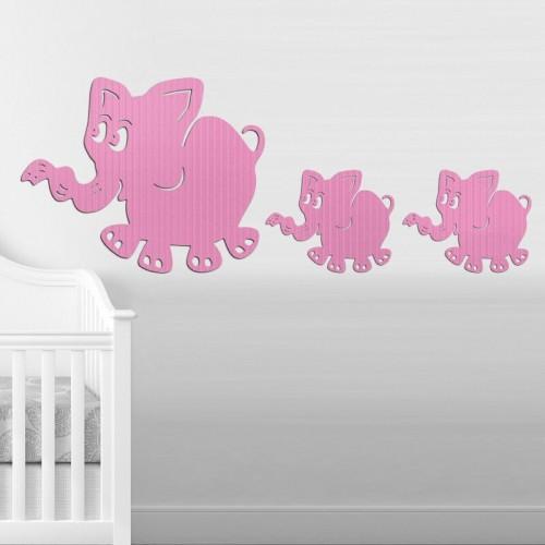 Decoración de paredes con murales de elefantes azules para dormitorios juveniles