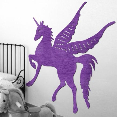 Decoración de paredes con murales de unicornios para dormitorios juveniles