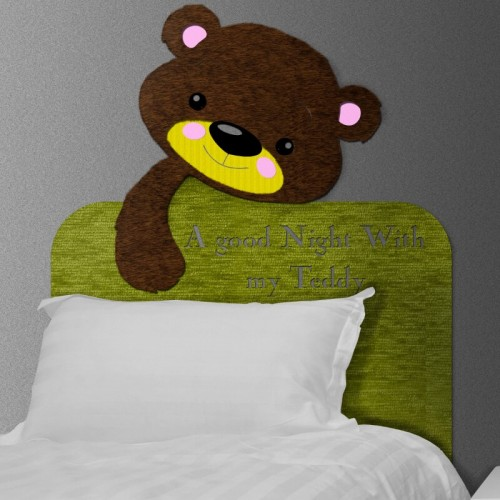 comprar cabezal infantil de osito teddy para la cama del dormitorio
