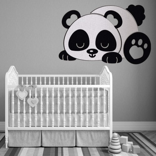 Comprar Oso Panda Tao para decorar pared de gotele de bebe recien nacido
