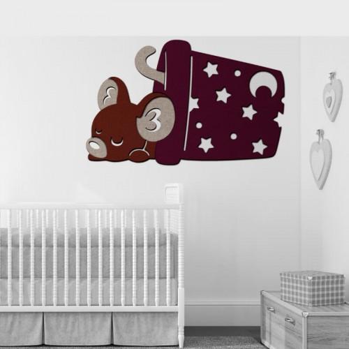 Comprar mural de raton para decorar pared de gotele de bebe recien nacido