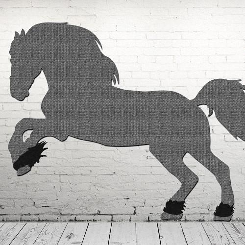 Decoración de paredes con caballos salvajes