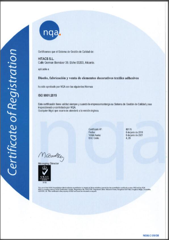 Decoracion de paredes hoteles certificada ISO