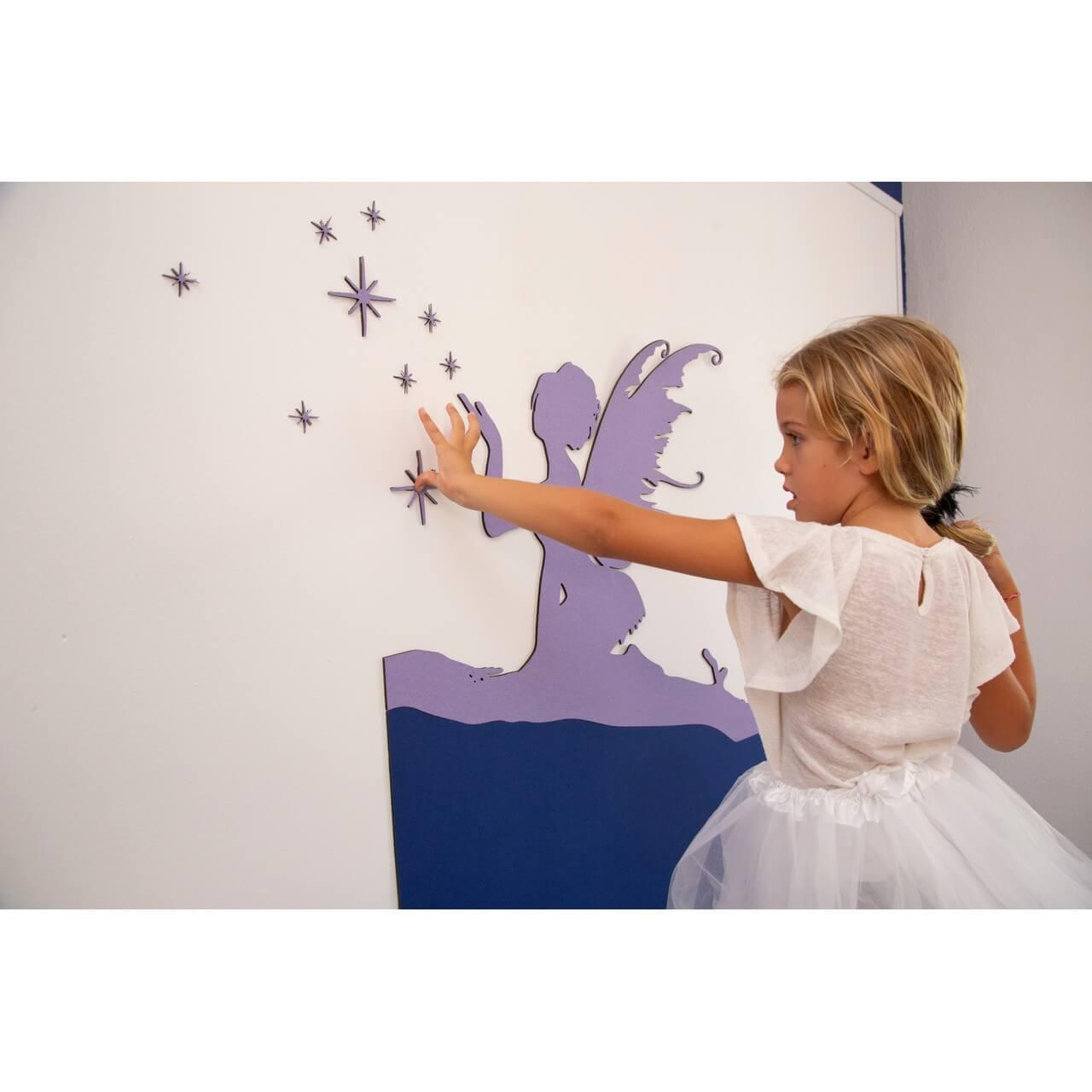 Proyecto de decoración infantil para las paredes de la habitación del bebé